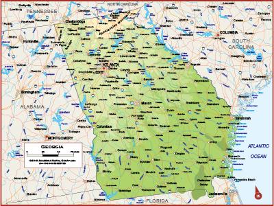 Georgia Wall Maps