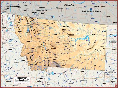 Montana Wall Maps