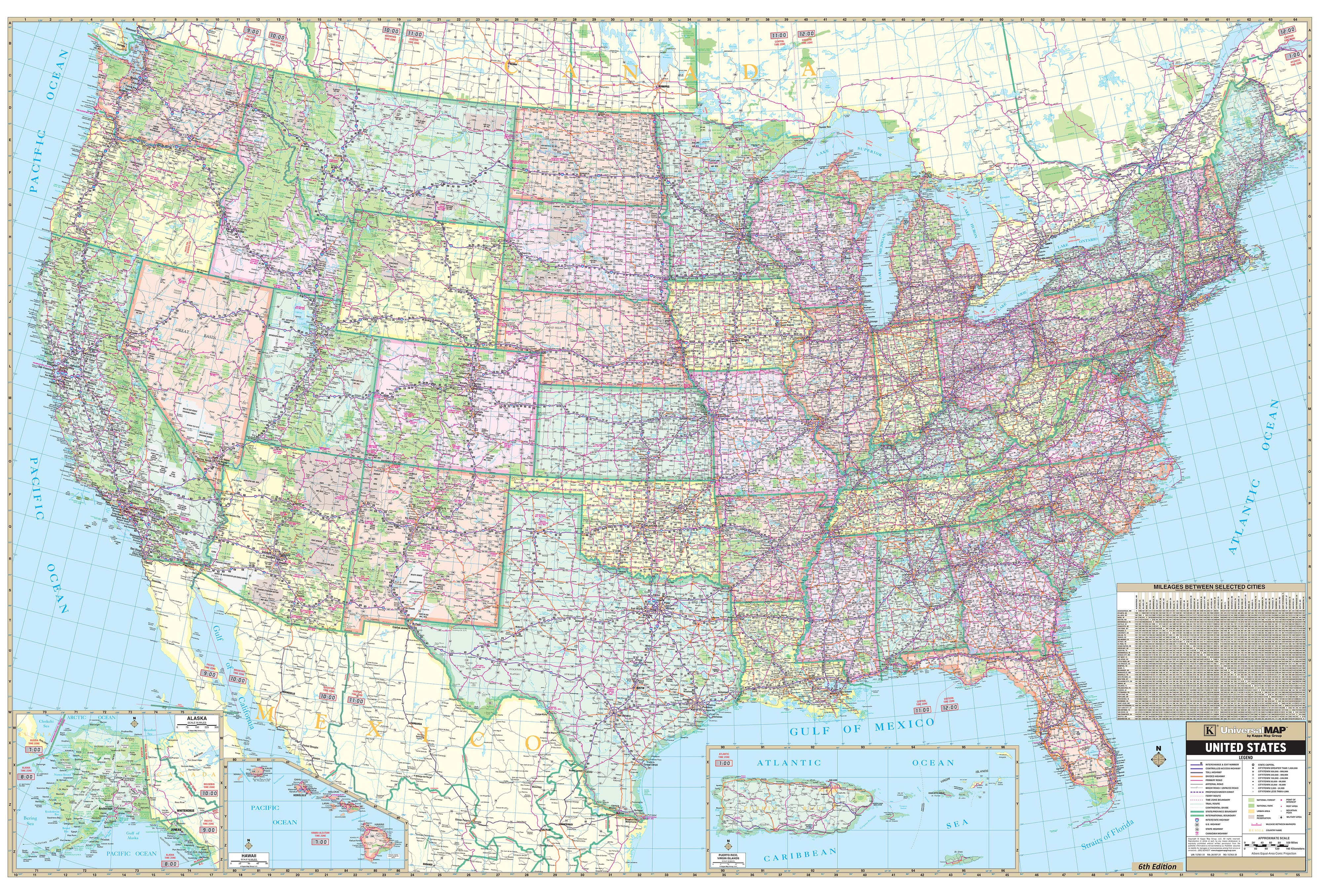 enlarged map of the united states Enlarged Wall Mural Size USA Map