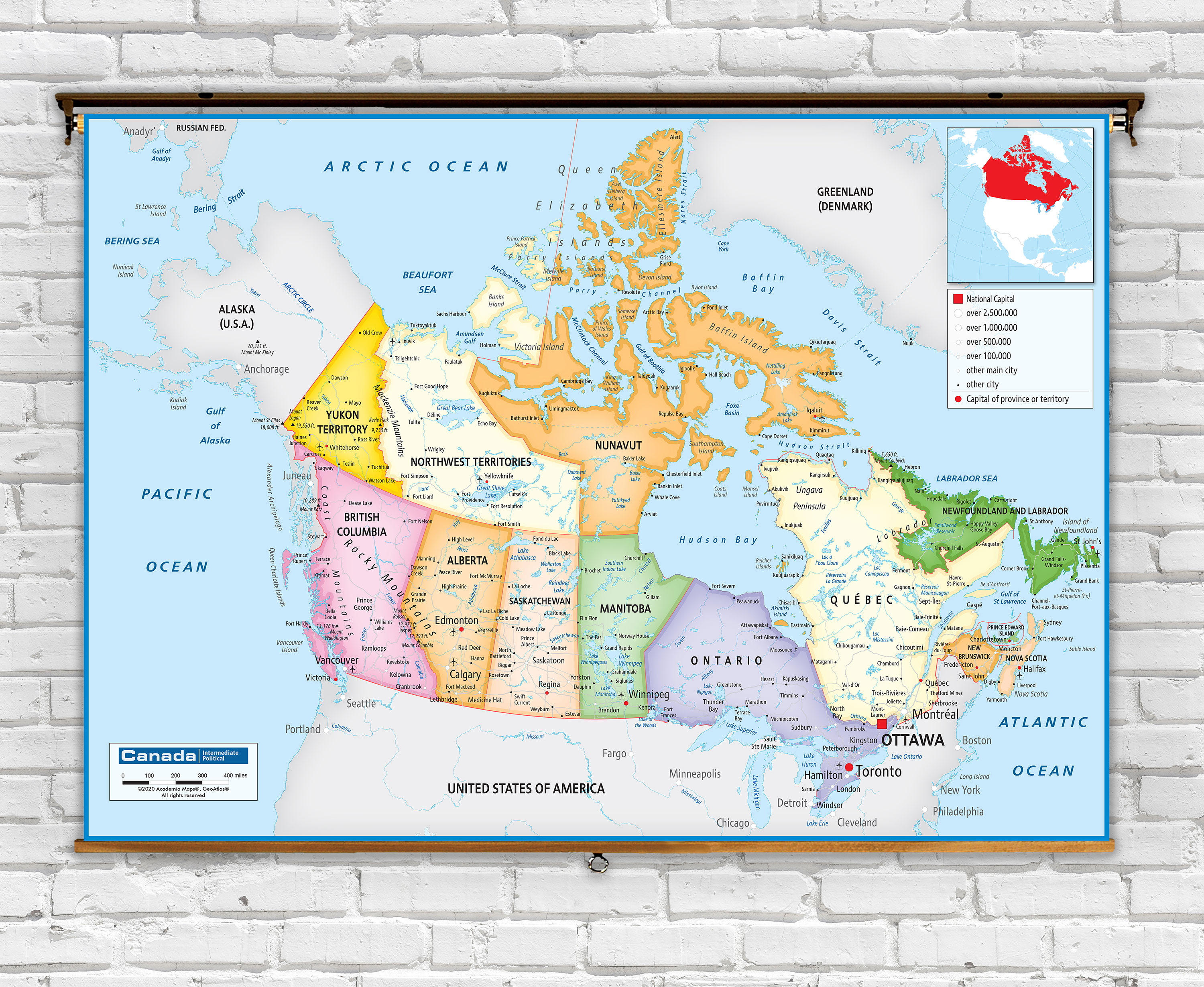 Picture of: Canada Political Classroom Map From Academia Maps