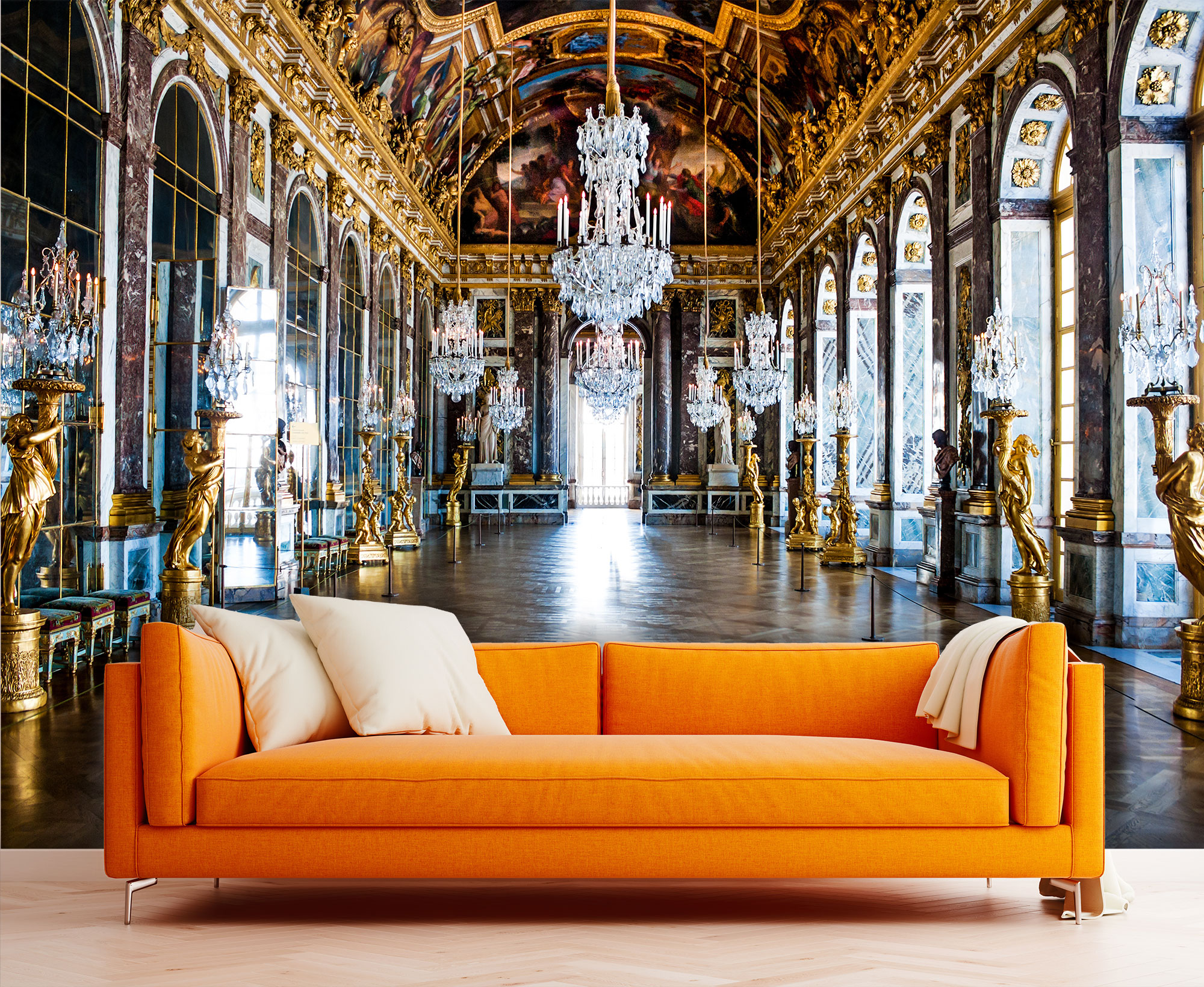 Hall Of Mirrors Palace Of Versailles Wallpaper Mural