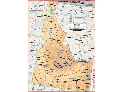 Idaho Wall Map Posters