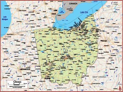 Ohio Wall Maps