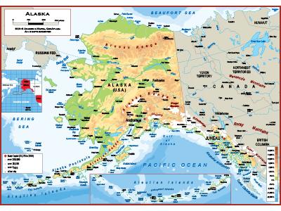 Alaska Wall Map Posters