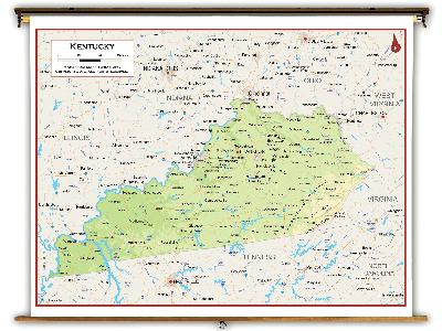 Kentucky State Classroom Maps