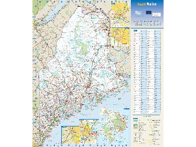 Maine Wall Maps