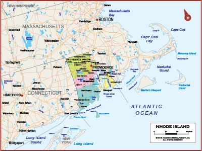 Rhode Island Wall Maps