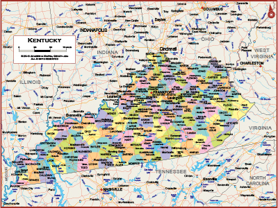 Kentucky Wall Maps