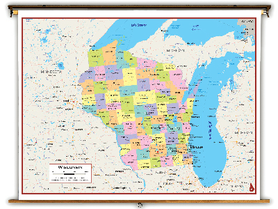 Wisconsin State Classroom Maps