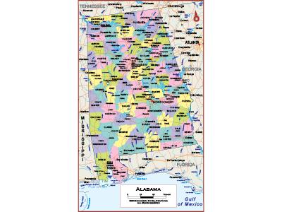 Alabama Wall Maps