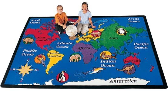 Classroom Map Rugs