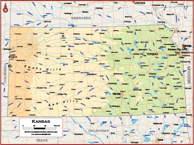 Kansas Wall Maps