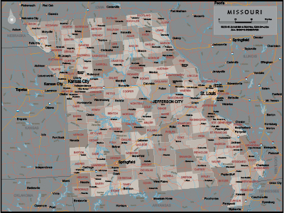 Missouri Wall Maps