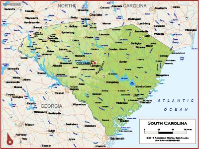 South Carolina Wall Maps