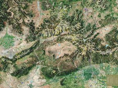 Raised Relief Maps of Colorado