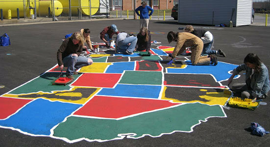 School Playground Map Stencils