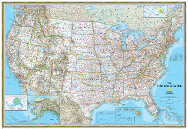 National Geographic United States Classic Wall Map