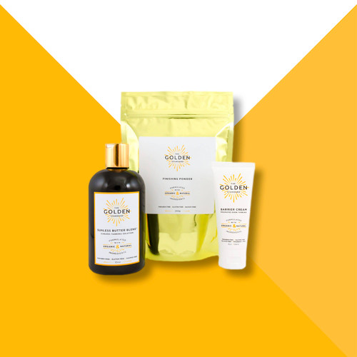 Run out of products in The Golden Standard Sunless Tanning System? Order a refill, all measured in the ideal quantities to get you through another 8 tans.