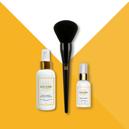 The We've Got You Covered Combo 2.0 is like the original but EVEN BETTER!!!  It includes our top selling Face Mist and Blending Brush PLUS the newest member of our amazing line up, the Face and Body Sunless Serum. This super concentrated Sunless Serum gives you a flawless, even tan while leaving your skin feeling hydrated and smooth. It can be added to your favorite moisturizer for fast and easy application and a head to toe perfect glow!