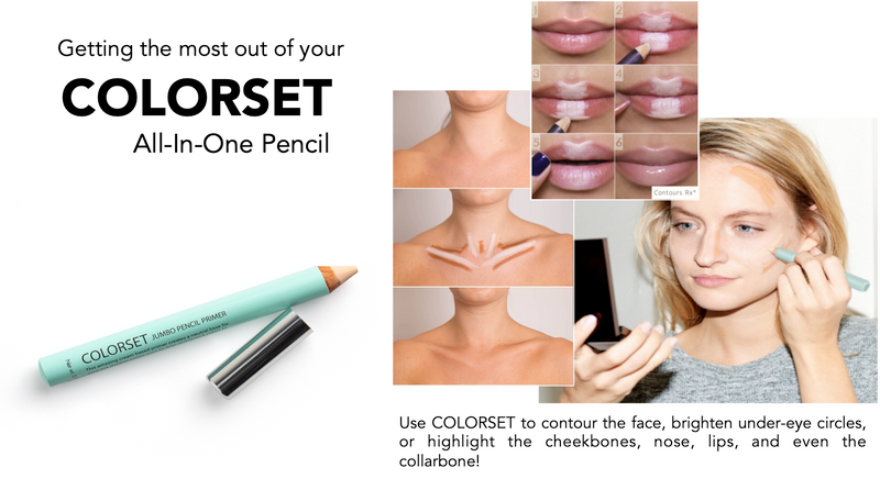 COLORSET All-In-One Pencil best primer for LIDS BY DESIGN to maximize shadow pigment, contour the face & brighten around eyes