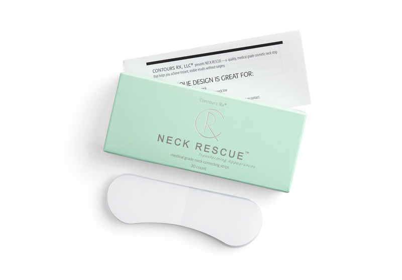 Instant non-Surgical NECK RESCUE neck lift tightening strips to improve the appearance of the neckline