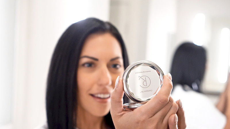 High quality Crystal Compact Mirror is beautiful with a 1x and 2x inside to see how amazing you look from every angle.