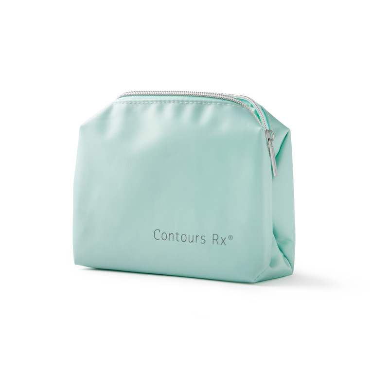 Cosmetic Travel Bag is used to carry all your favorite Contours Rx products in this stain-resistant bag.