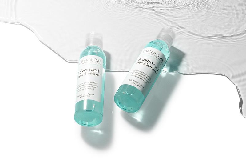 A hand sanitizer contains aloe vera, coconut extract, eucalyptus & vitamin E
