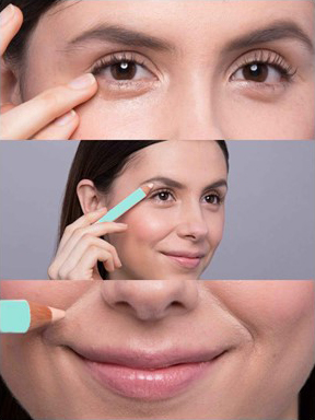 Use COLORSET Primer Pencil trace the outer edges of your eyes, lips and blend to create a barrier for pesky lipsticks.