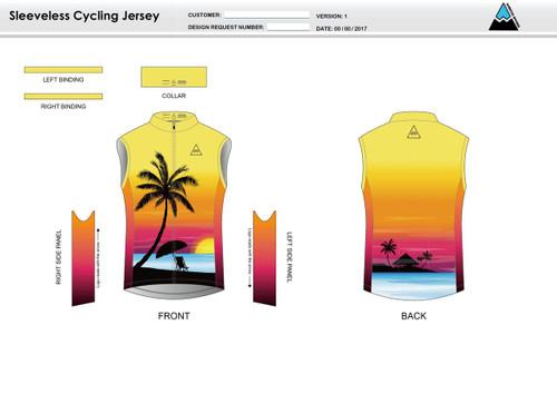 Oceanside Sleeveless Cycling Jersey