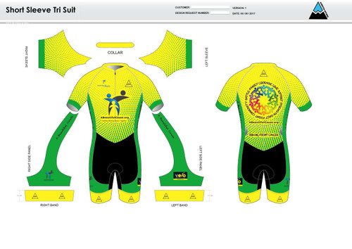 A Beautiful Cause Short Sleeve Tri Suit