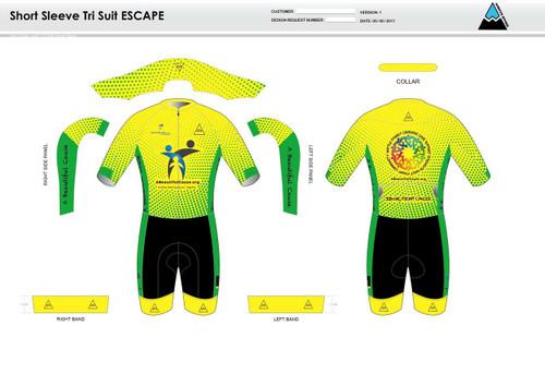 A Beautiful Cause ESCAPE Short Sleeve Tri Suit