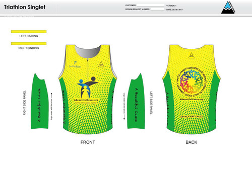 A Beautiful Cause Men's Tri Singlet