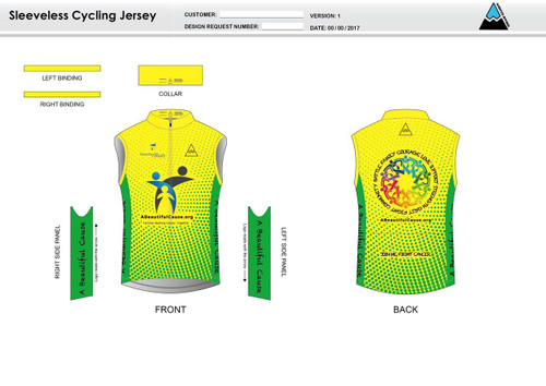 A Beautiful Cause Sleeveless Cycling Jersey