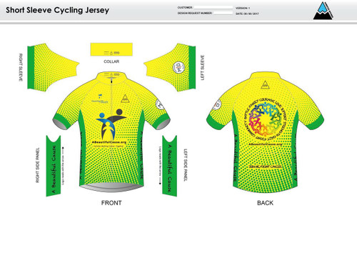 A Beautiful Cause Short Sleeve Cycling Jersey