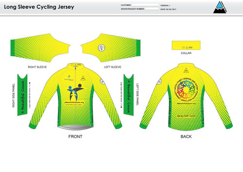 A Beautiful Cause Long Sleeve Thermal Cycling Jersey
