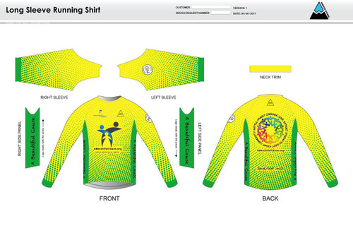 A Beautiful Cause Long Sleeve Running Shirt