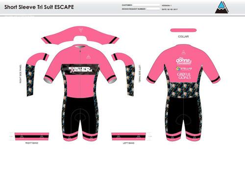 Gr8ful Goals ESCAPE Short Sleeve Tri Suit