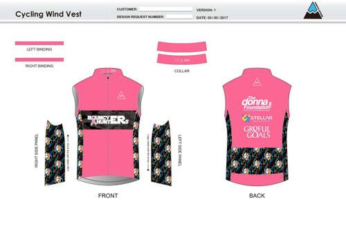 Gr8ful Goals Cycling Wind Vest