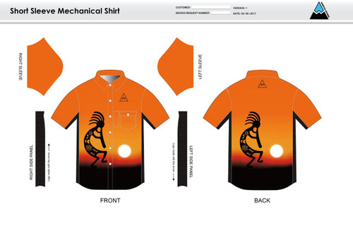 Kokopelli Adult Mechanic Shirt - UNISEX Sizing