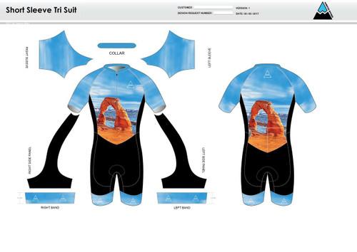 Arches Short Sleeve Tri Suit