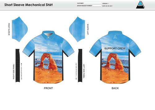 Arches Adult Mechanic Shirt - UNISEX Sizing