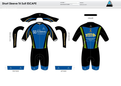 SBF Green ESCAPE Short Sleeve Tri Suit