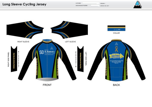 SBF Green Long Sleeve Cycling Jersey