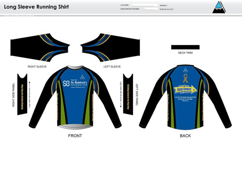 SBF Green Long Sleeve Running Shirt