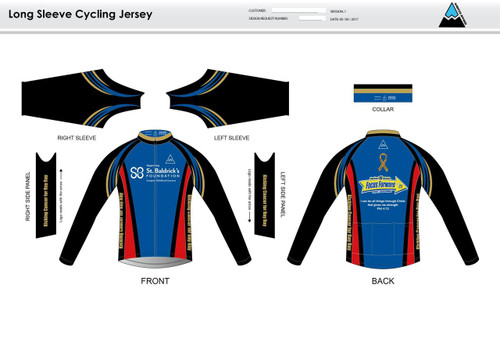 SBF Red Long Sleeve Thermal Cycling Jersey