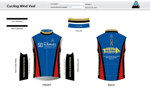 SBF Red Cycling Wind Vest