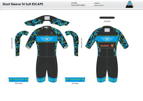 Flying W ESCAPE Short Sleeve Tri Suit