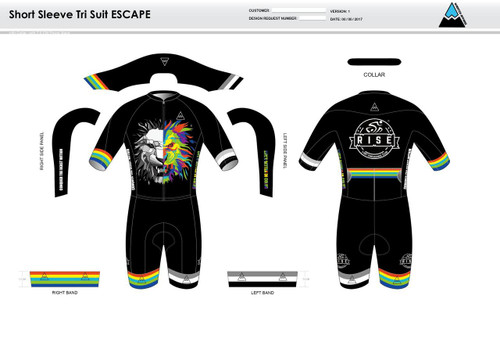 RISE ESCAPE Short Sleeve Tri Suit