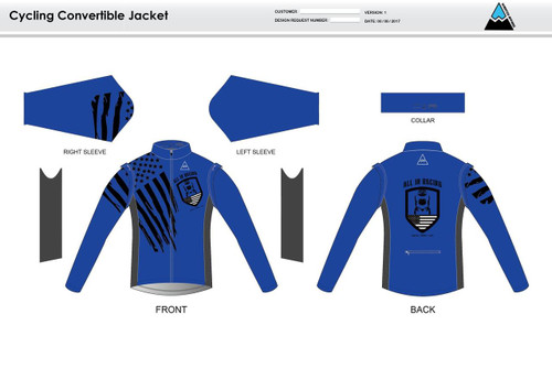 All In Racing Blue Convertible Jacket